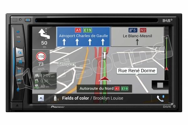 AVIC-Z730DAB monitor 6.2'' con sistema di navigazione di fascia alta e Apple CarPlay wireless, Android Auto, Waze, Bluetooth e DAB+