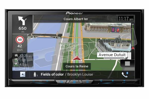 AVIC-Z830DAB monitor 7'' con sistema di navigazione di fascia alta e Apple CarPlay wireless, Android Auto, Waze, Bluetooth e DAB+