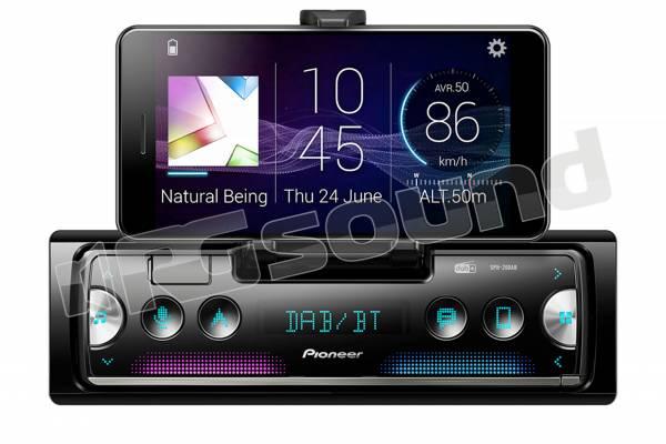 SPH-20DAB smart radio con Bluetooth, DAB, USB e collegamento diretto a smartphone