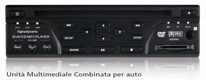 Digitaldynamic CTD-H1 - DVD, DiVX, USB, SD, sinto TV DVB e analogico